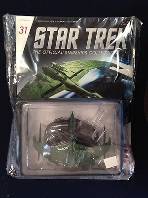Romulan Warbird Valdore #31 Star Trek Official Starships Collection, Sealed NIP