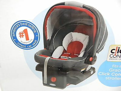 Graco 1893808 SnugRide Click Connect 35 Infant Car Seat, Chili Red BOX DAMAGE