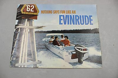 Vintage Magazine  1962 Print Ad Evinrude Outboard Motors Full Color With Insert