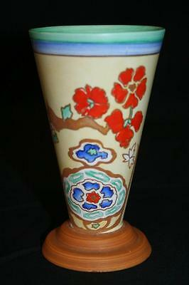 Lovely Art Deco Shelley Vase - Moresque Pattern - Clarice Cliff Like - BARGAIN!