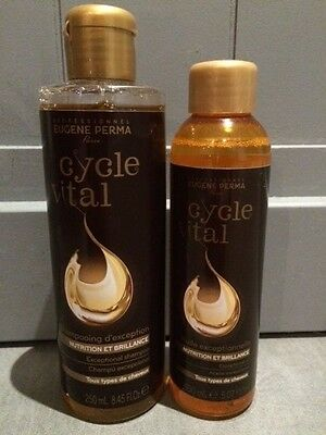 Lot shampooing d'exception 250ml + huile de soin 150ml Cycle Vital Eugène Perma