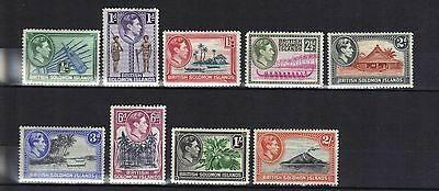 Solomon Islands.part Set George Vi 1939 Mnh