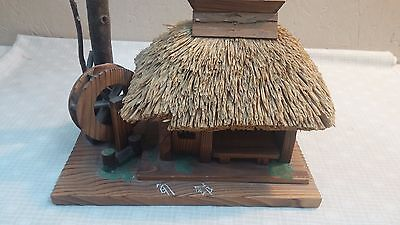 Vintage ~ Musical Music Box Water Mill Asian/Oriental Hut