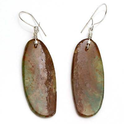 Turquoise Oval Slab Earrings by Cate