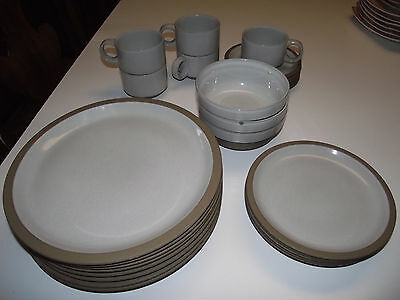 26pc 8 Dinner Plates & Cereal Bowls NATURAL MidWinter Stonewar