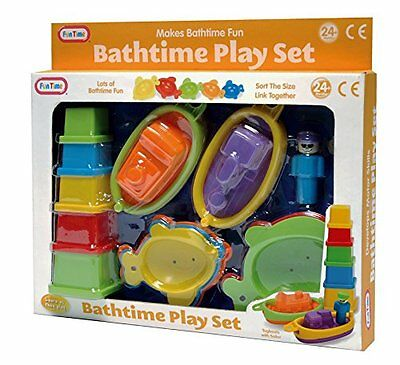 Baby Toddler Fun Bath Time Toy Play Set Boats 24 Months + NEW