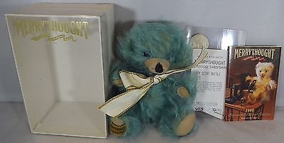 """Boxed Merrythought Small 6"""" Cheeky Teddy Bear Scent Bottle Mohair Ltd Ed. T6Sits"""