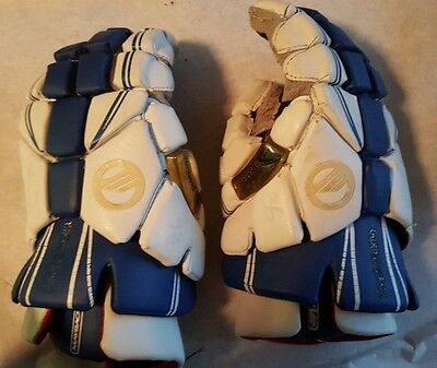 Maverick Maybach -  Lacrosse Gloves - Blue and White - Size 13