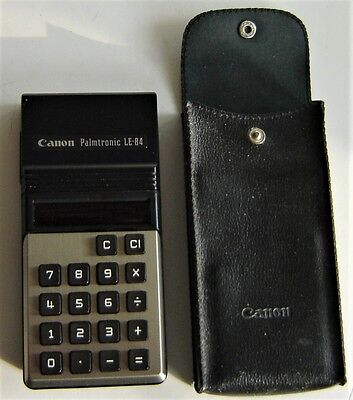 Vintage Canon Palmtronic LE-84 Calculator Made in Japan Red Display-Works Great!