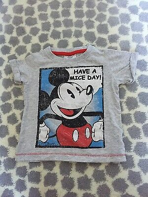 next baby boy disney mickey tshirt 3/6m