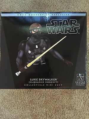 Gentle Giant 2014 SDCC Luke Skywalker McQuarrie Concept Mini Bust mint/ Ltd 500