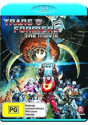 The Transformers - The Movie [Blu-ray Movie, Animation, Region Free, 1-Disc] NEW