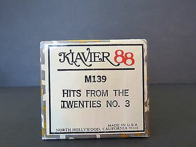 Klavier 88 Player Piano Roll HITS FROM THE TWENTIES NO. 2 #M139