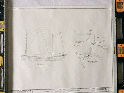 Smithsonian Ship Blueprints - Nomans Land Boat - HAMMS