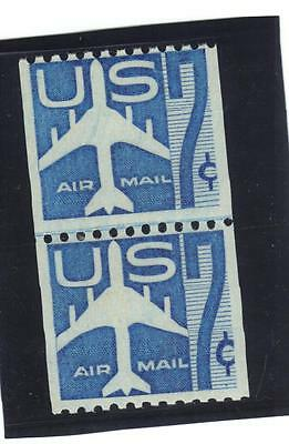 U.S. Air Mail stamps,  Scott # C 52, joint Line Pair, MNH