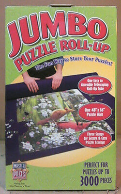 """NEW OPEN BOX Masterpieces M50530 Jumbo Roll Up Puzzle Mat 48""""X36"""""""