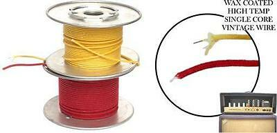 VINTAGE CLOTH COVERED WIRE - Solid Core 22 AWG - 15 Meter Rolls - Six Colours