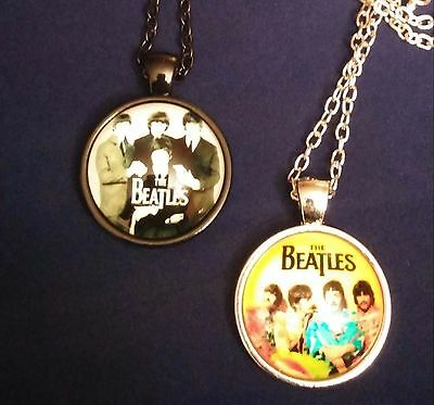 Classic Beatles Glass Dome Necklace