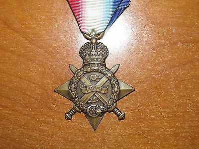 WW1 British Mons 1914 Star Medal LOW SERVICE NUMBER
