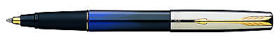 Parker Frontier  Blue &  Black  & Gold  Rollerball Pen  2 Tone Made In Usa New