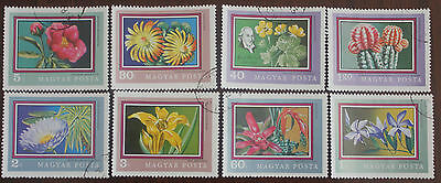 8 Hungary Flower stamps