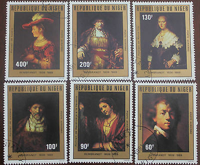 6 Niger stamps
