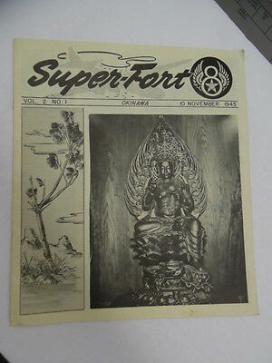 1945 SUPER-FORT 8th Air Force 20th XX Bomber Command Unit Newspaper Okinawa VG