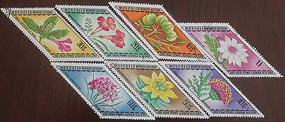 7 Mongolia Flower stamps
