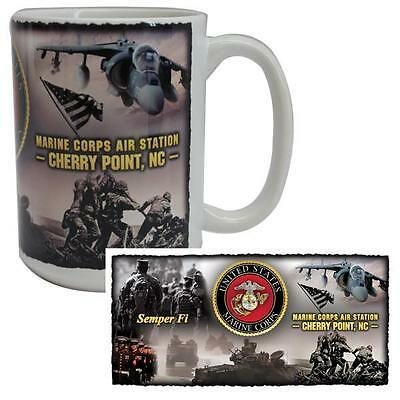 Vanguard Coffee Mug USMC Marines MCAS Cherry Point, North Carolina EGA Harrier