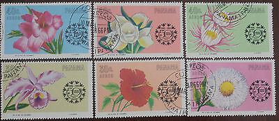 6 Panama Flower stamps
