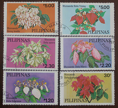 6 Philippines Flower stamps
