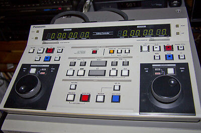 Panasonic AG-A750 Dual Channel Linear Video Edit Controller with Cables & Manual