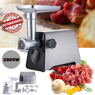 2800W Commercial Stainless Steel Sausage Stuffer Home Electric Meat Grinder