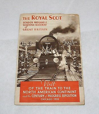 Vintage The Royal Scot Train London Midland Rr Pamphlet Chicago Worlds Fair 1933
