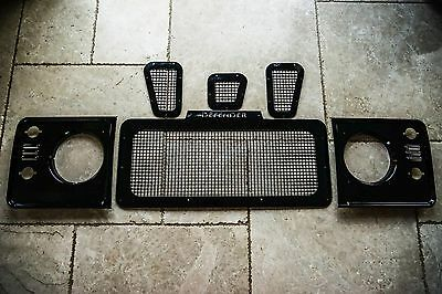 Land Rover Defender bespoke stainless steel Hurricane Grill & vents uproar 4x4