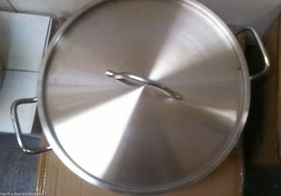 20 Quart BRAZIER BRAZING PAN with LID 18/8 STAINLESS INDUCTION READY COOKWARE