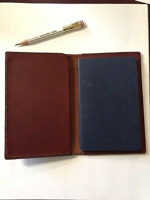 Inkleaf Leather Field Notes Cover - Oxblood Horween Full Grain Leather