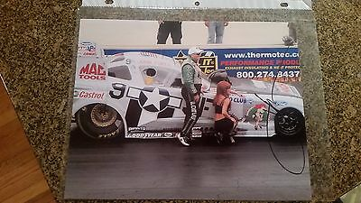 John Force Norwalk American Warbird Mustang Funny Car NHRA Picture/Photo SIGNED