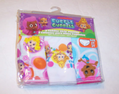 BUBBLE GUPPIES 3Pr Girls Toddler Panties Size 2-3T Cute NWT Nickelodeon