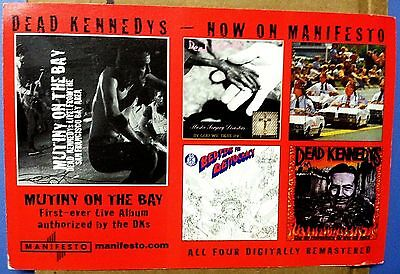 DEAD KENNEDYS Approx 4 X 6 PROMO POSTCARD MANIFESTO RECORDS DKs ALBUM COVERS