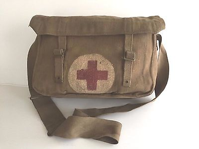 British Wwii Ww2 Canvas Medics Bag Dated 1943