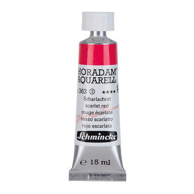 (69,87€/100ml) Schmincke 15ml HORADAM Aquarell Scharlachrot Aquarell  14 363 006
