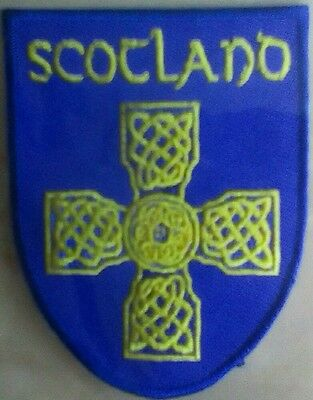 Celtic cross  Scotland Embroidered sew on Patch Badge shield