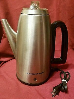 Hamilton Beach 40614 Electric 12 Cup Coffee Pot Percolator Stainless Steel