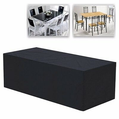 240 x 135 x 90cm Outdoor Furniture Cover Water Resistant Sofa Couch Cover Black