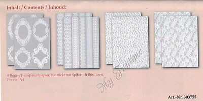 "Craft kit Transparent paper ""Pointed & Borders"""