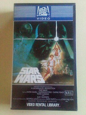 Vhs Super Rare ( Star Wars  A New Hope) 1982 1St Uncut  Video Library Release