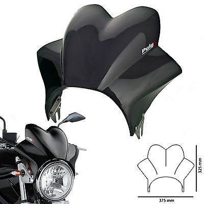 Puig Windscreen for Suzuki GSF600 Bandit 1996 Wave Fly Screen Dark Tint
