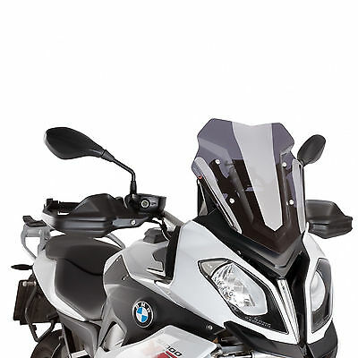 BMW S 1000 XR 2015-2016 Puig Racing Airflow Double Bubble Screen Dark Tint