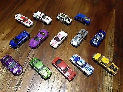 Set of 14 Vintage Die Cast Hotwheels Cars Approx. 1/64th Scale
